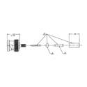 Trompeter UPL220-025 75 Ohm BNC Plug 734A RF Coaxial