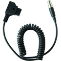 TVLogic D-TAP-C Coiled DTAP to Mini XLR Power Cable for VFM Monitor (Expanded - 29 Inch Nominal Length)