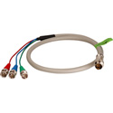 3 BNC Twist Lead for Twist and Pull Breakaway Cables- 6 Ft