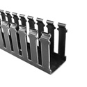 HellermannTyton SL1X1BK4 Non-Adhesive Slotted Wall Duct 1 x 1 x 6 Foot - Black