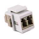 HellermannTyton LCMMINSERT-I LC Multimode Fiber Module - Beige - Ivory