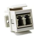HellermannTyton LCMMINSERT-FW LC Multimode Duplex Fiber Module - Beige - Office White