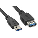 USB 3.0 A Male to A Female USB Extension Cable - 3 Feet