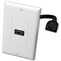 Vanco 120931X Single HDMI Pigtail Decor Wall Plate