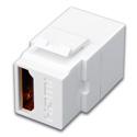 Vanco 820499 Toslink Keystone Insert Toslink F to Toslink F - White