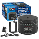 Vidpro MH-365 Pro Motorized Time-Lapse Pan Head - Upgraded Motor and USB Charging - Li-Ion