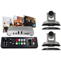A Video Streaming Kit with Roland V-1SDI Switcher and Matrox Monarch HD and 2pcs AV-1361 HD IP Video Camera