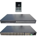 VM-16RT Video Mux -  16 Channel CCTV Multiplexer - Real-time Refresh - BNC