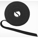Rip-Tie W-75-HRL-BK Wrap Strap 1in Width - 75ft Roll - Black