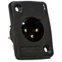 Whirlwind WC3MQBK Black Male XLR Chassis Mount Connector Numbered 1