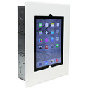 FSR WE-FMIPDNB-WHT iPad Flush Mount No Button w/ Back Box and Cover - White