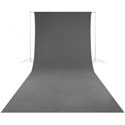 Westcott 141 Wrinkle-Resistant 9 Foot x 20 Foot Video Backdrop - Neutral Gray