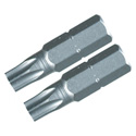 Wiha 70155 Security Torx Insert Bits T20s - Pair
