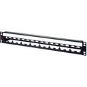AVP WKM-U116E15-Z-B24 1.5RU Maxxum Panel Accepts 16 Single/8 Dual Modules MIS - 3 Inch Bar