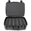 Williams AV CCS Large Water Resistant Carry Case w/ 35 Slot Foam Insert for PPA T46 Transmitter & Body-Pack Recievers