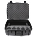 Williams AV CCS Large Water Resistant Carry Case w/ 15 Slot Foam Insert for PPA T46 Transmitter & Body-Pack Recievers