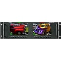 Wohler RM-3270W-3G2 Dual 7.0 Inch Widescreen LCD Video Monitor Dual Input 3G/HD/SD-SDI Composite and HDMI In/OUT 3RU