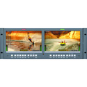 Wohler RM-4210WS-3G2 4RU Dual 10-Inch Widescreen LCD Rackmount Video Monitor 3G-SDI with Embedded Audio