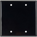 Blank Black Lexan Double Gang Wall Plate