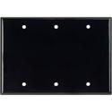Blank Black Lexan Triple Gang Wall Plate