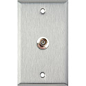 MCS WPL-1101 1-Gang Stainless Steel Wall Plate with 1-BNCF Barrel