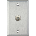 1-Gang Stainless Steel Wall Plate with 1 Coax F Connector Feed-Thru