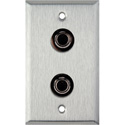 1-Gang Stainless Steel Wall Plate with 2 S-Video 4-Pin Barrels