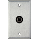 1G Stainless Steel Wall Plate w/1- 4 Pin S-Video w/Rear Solder Points