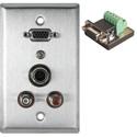1G Plate w/HD 15-Pin F-TB/2 RCA Barrels/1 S-Video Barell/1 Mini Jack