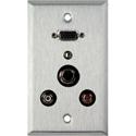 1G Stainless Plate w/ 1:VGA Feed Thru 1:SVHS 2:RCA & 1: 3.5 Stereo Mini Jack