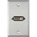 MCS WPL-1185 1-Gang Stainless Steel Wall Plate With 1 DVI Feed-Thru