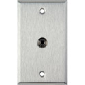 MCS WPL-1196 1-Gang Stainless steel w/1 mini 3.5 stereo feedthrough