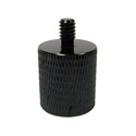 Photo of  WindTech M-19 Photo Thread Mic Stand Adapter 5/8 inch-27 F to 1/4 inch-20 M - Black Aluminum