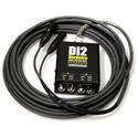 Whirlwind DI2-025-BK Snake - Box to Fan 2-ch DI to XLR Fanout W1509 Snakeskin - Black - 25 Foot