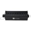 Clark Wire & Cable X-DT12BOX-12M-12F DT12M/DT12F Audio Break Out Box - 12 Male to Female Neutrik XLR Connectors - Black