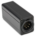 Connectronics 4 Pin XLR Male to XLR Male Chassis Mount Adapter