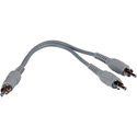 TecNec Y-P-2P RCA Male to 2 RCA Male Cable 6 Inch Y-Adapter Cable