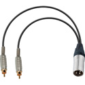 XLR Male to Dual RCA Male Y-Cable