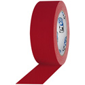 Photo of Pro Tapes 001UPCG455MRED Pro Gaff 4 x 55 Yards (96mm x 50m) Red Matte Cloth Tape - 12 Rolls