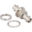 Amphenol 034-1110-12G HD-BNC Jack to HD-BNC Jack Isolated Bulkhead adapter 12G Optimized 75 ohm