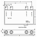 VAC 11-141-102 1x2 Composite Video DA Diff. Loop thru Input Unity Gain BNC