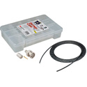 12G BNC Cable Making Kit with 20 Amphenol BNCs & 100 Foot Belden 4855R Mini-RG59