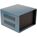 Hammond 1458VG5  10 x 8 x 5 Heavy duty - 18 Gauge Steel - Top & Bottom Case in Satin Black Powder Coat
