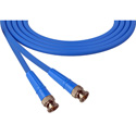 Laird 1505-B-B-18IN-BE Belden 1505A SDI/HDTV RG59 BNC Cable - 18 Inch Blue