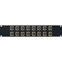 My Custom Shop 16XEHBNC2 2RU Switchcraft E Series 16-Point BNC Feed-Thru Barrel to BNC Feed-Thru Barrel Patch Panel -