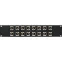 My Custom Shop 16XEHRCA2 2RU Switchcraft E Series 16-Point RCA-RCA Feedthru Patch Panel