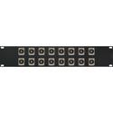 My Custom Shop 16XEHRCABNC 2RU Switchcraft E Series 16-Point RCA Feed-Thru to BNC Feed-Thru Barrel Patch Panel -