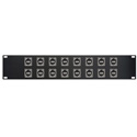 My Custom Shop 16XEHUSBAB Switchcraft E Series 16-Point USB-A Front to USB-B Rear Feedthru Patch Panel - 2RU