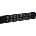 My Custom Shop 16XUHD-BNCR 4K/8K 12G-SDI Feed-Through BNC Patch Panel - 16 Point x 2RU