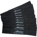 TecNec by Cord-Lox 3/4 Inch x 5 Inch Hook & Loop Closed Loop Cable Tie Wrap 10 Pack Black